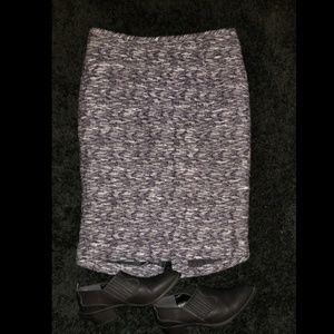 Calvin Klein black/purple/white lined skirt